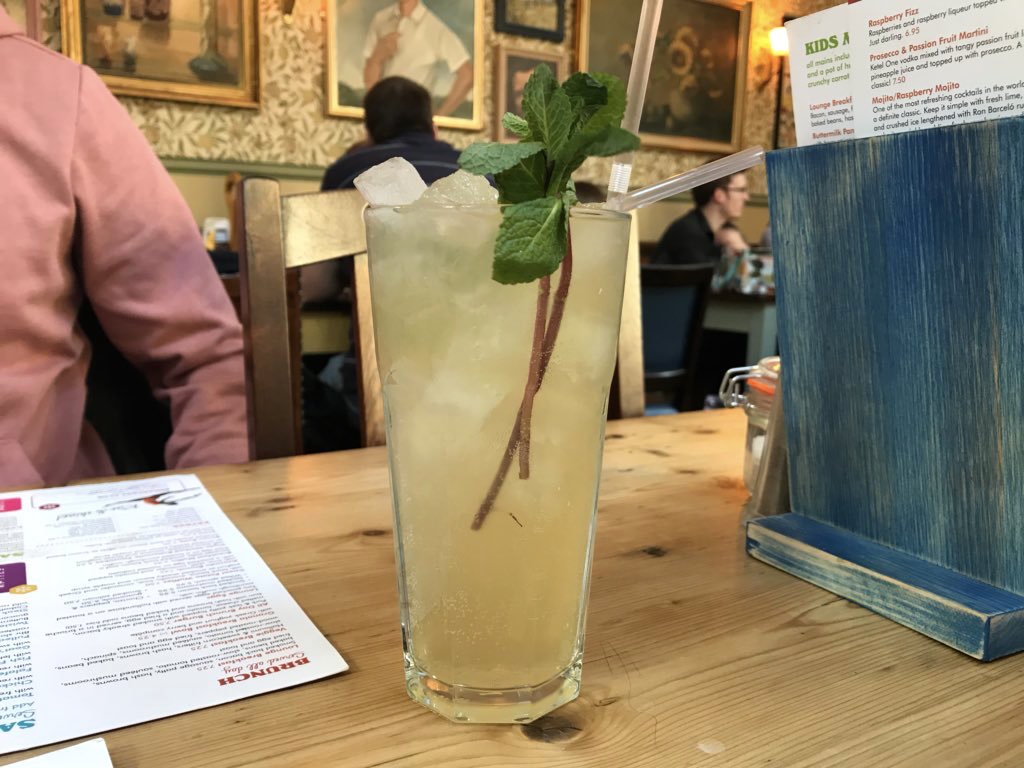 the orchard mojito at The Albero Lounge, Bedford