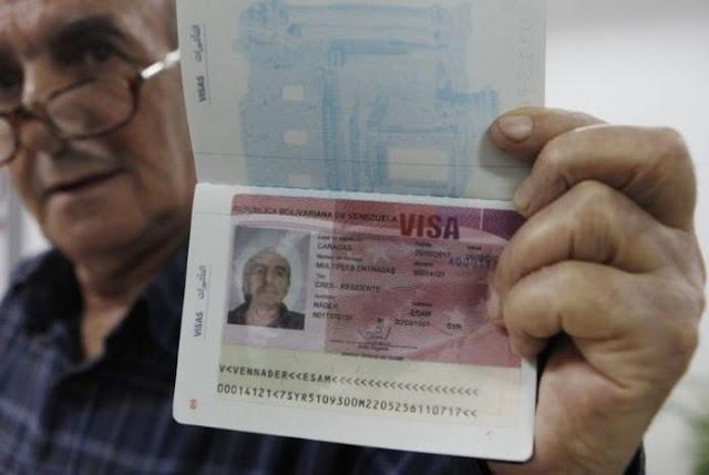 Régimen de Maduro exigirá visa a chilenos y peruanos a partir del 29 de agosto