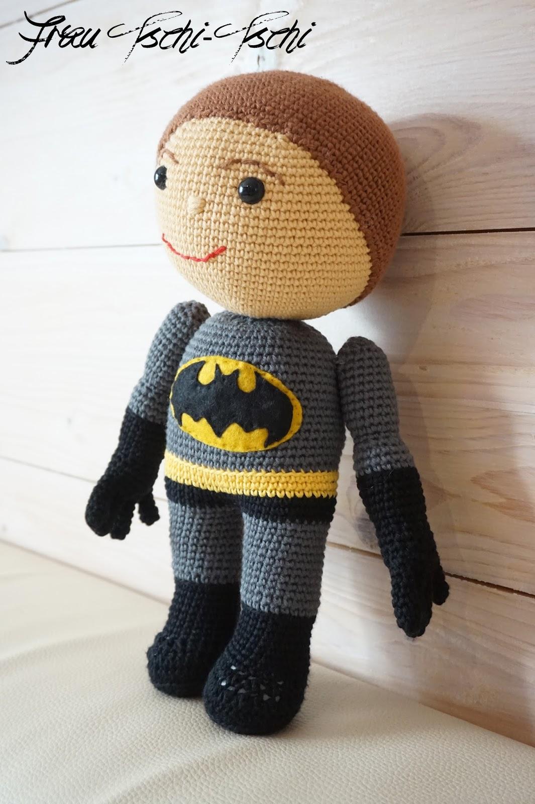 Batman Amigurumi Anleitung, Superheld Crochet Amigurumi ... | 1600x1065