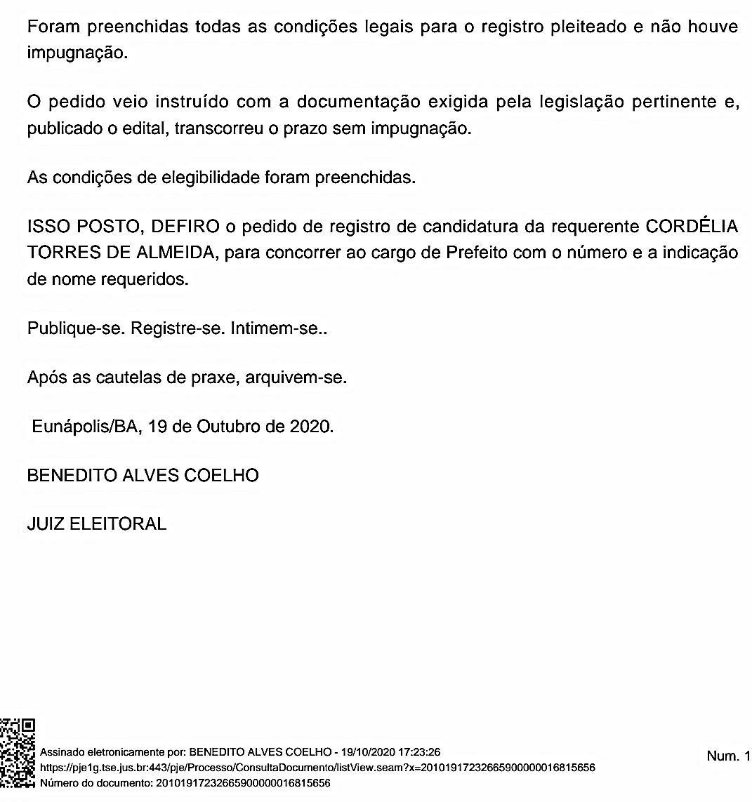 É DEFINITIVO: Juiz Eleitoral considera Cordélia apta para concorrer ao cargo de prefeita 29