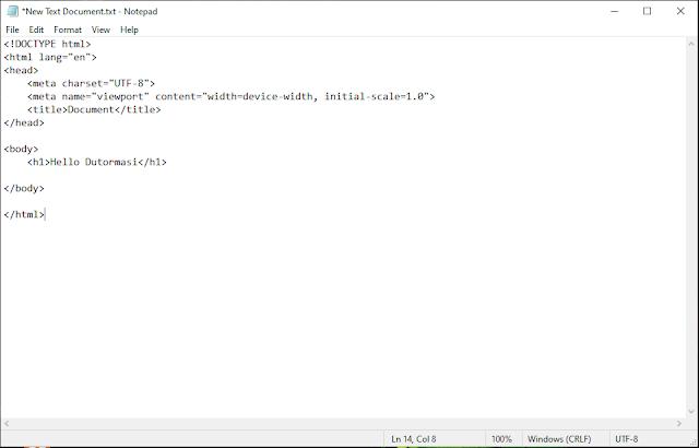 Cara Membuat Web Sederhana Menggunakan HTML