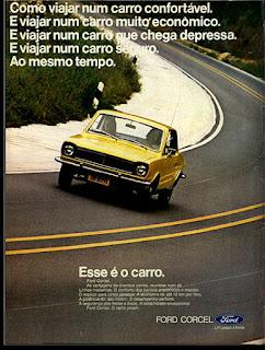 propaganda Ford Corcel - 1973, Ford Willys anos 70, carro antigo Ford, década de 70, anos 70, Oswaldo Hernandez,