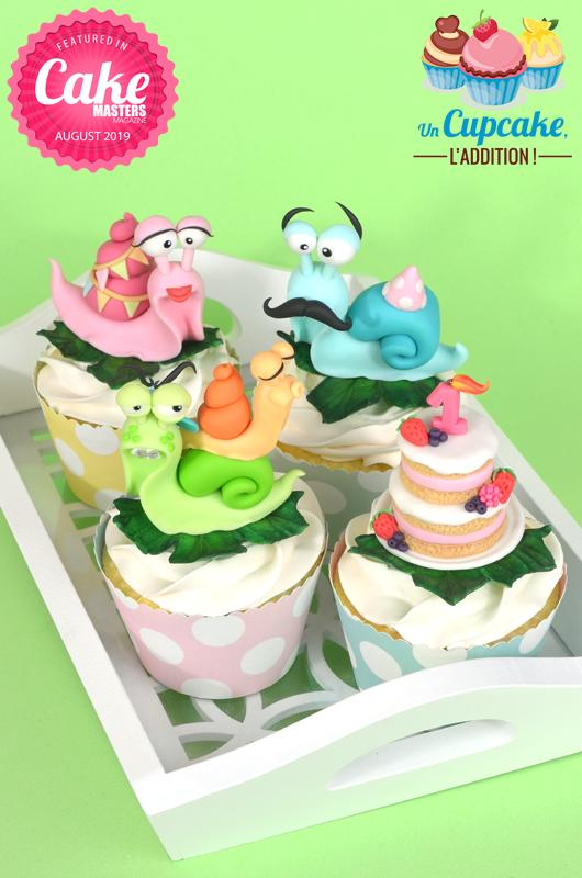 Cupcakes « Anniversaire dans la Famille Escargot »