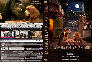 CARATULA 2 LA DAMA Y EL VAGABUNDO - LADY AND THE TRAMP 2019[COVER DVD]