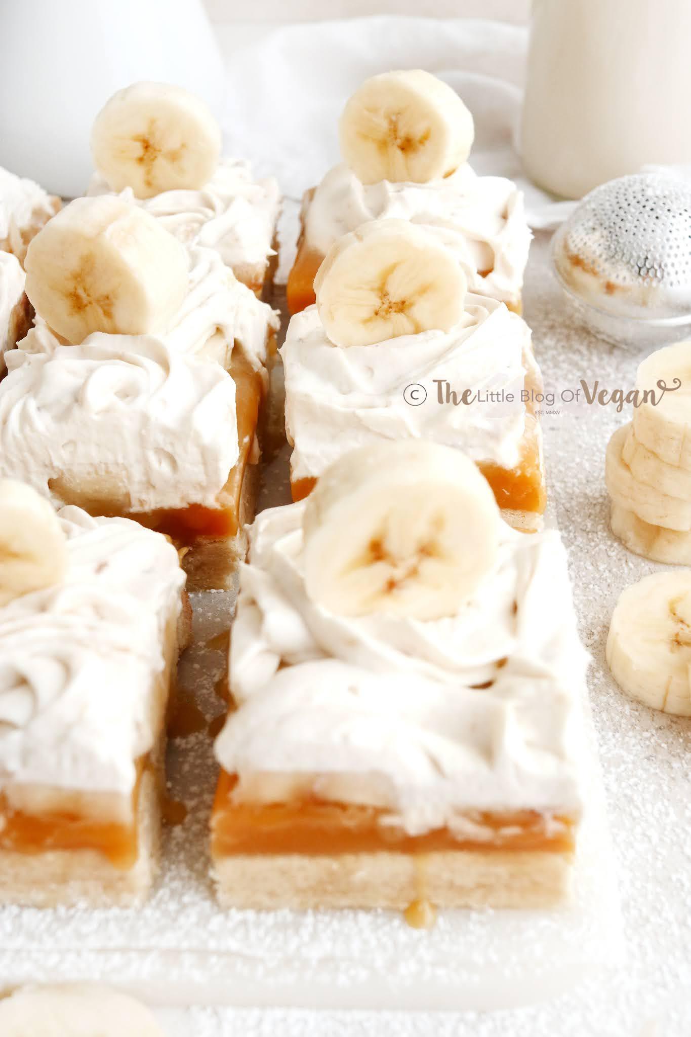 banana caramel bars