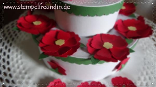 - Jessika Tschenscher - Stampin' Up! - www.stempelfreundin.de, Das blühende Leben, Handstanze, Glutrot, Gartengrün, Hochzeit