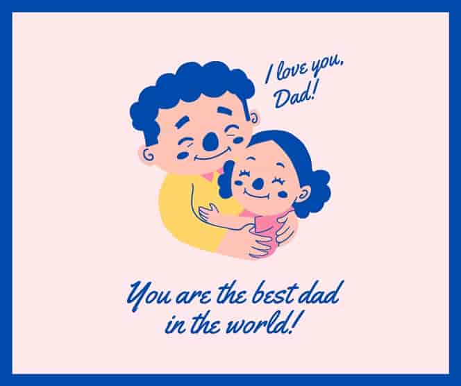 fathers day messages from baby daughter