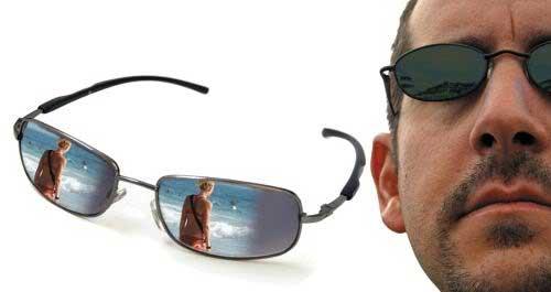 mắt kính nhìn sau điệp viên