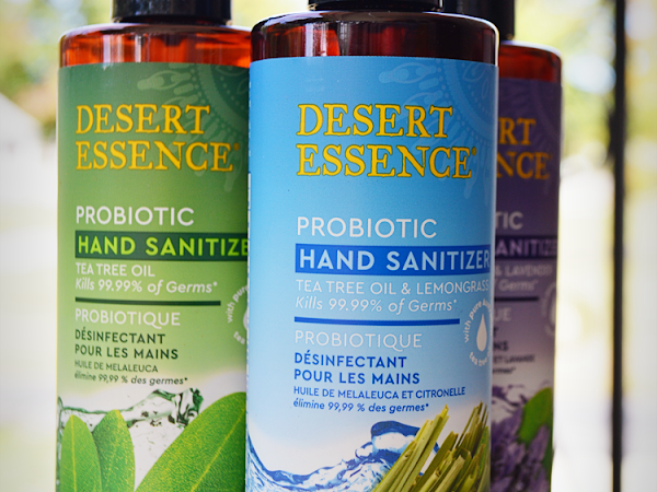 Fight Germs This Flu Season with Desert Essence Probiotic Hand Sanitizer {A #momsmeet  Review, Coupon + Sweepstakes} #DEprobioticpower