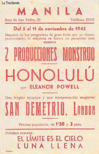 Honolulu - Programa de cine - Eleanor Powell - Robert Young
