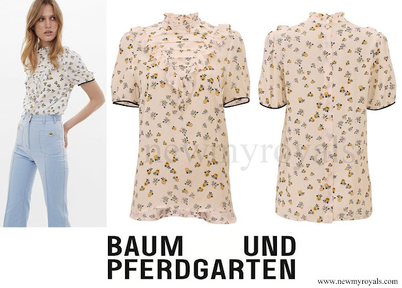 Crown Princess Mary wore Baum und Pferdgarten Melina blouse - top