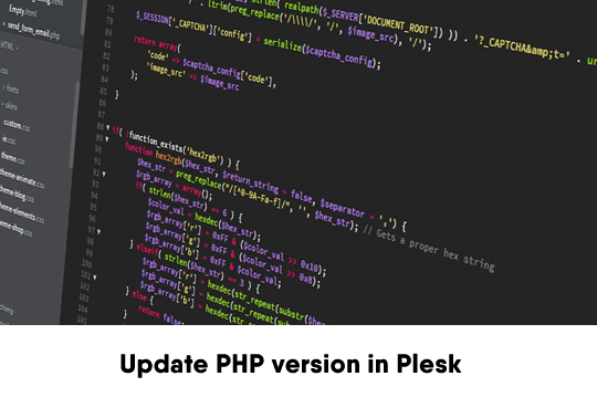 How to Upgrade / Update PHP version in Plesk