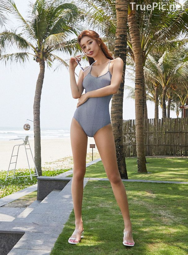Korean model and fashion - Park Da Hyun - Hightension Swimsuit Set - Picture 5