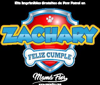 Logo de Paw Patrol: ZACHARY