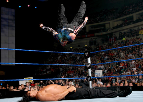 WWE CHAMPION 2011: jeff hardy swanton bomb | 560 x 400 jpeg 53kB