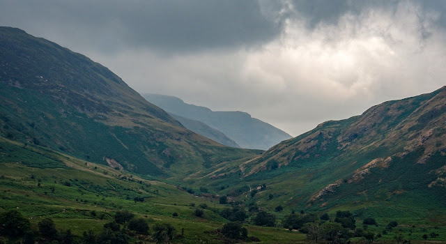 Photo of mountains on the far side of Crummock Water