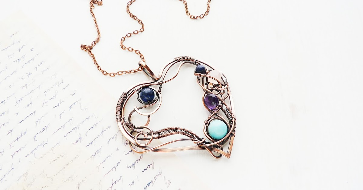 Ursula Jewelry Free Jewelry Tutorial Wire Copper Heart