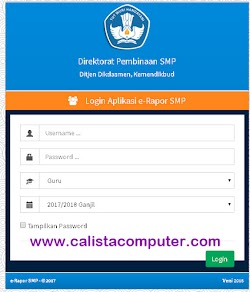 Aplikasi E-Rapor SMP Versi Terbaru