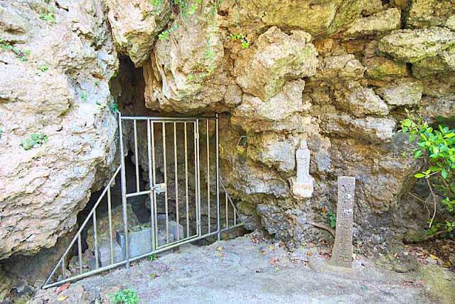 cave, statue, gate