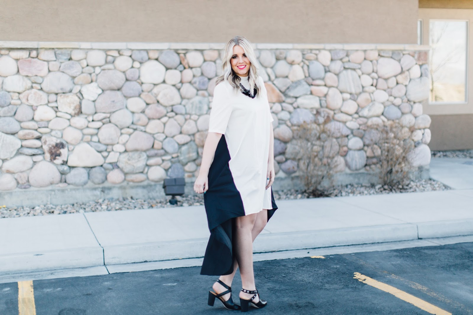 High Low Dress, Black and White, Spring outfit