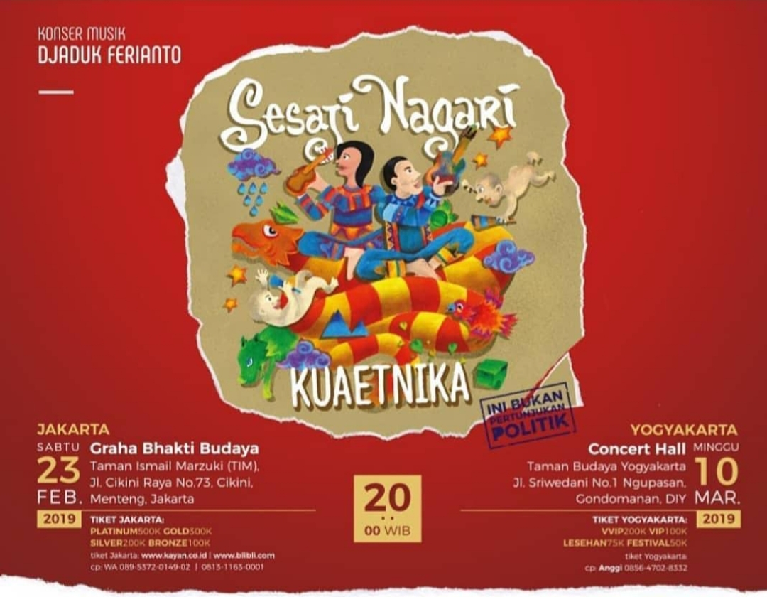 travelplusindonesia  Kuaetnika Siap Sajikan Konser  Sesaji Nagari ... b087aa4a63