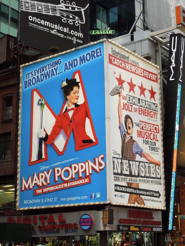 Mary Poppins Broadway billboard