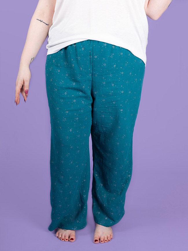 Jaimie pyjama bottoms and shorts sewing pattern in UK 16-34 from Tilly and the Buttons