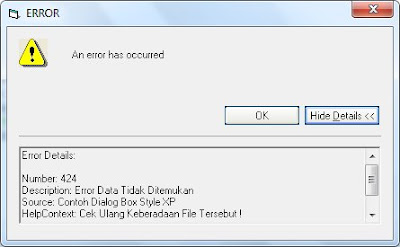 Tips Cara Menciptakan Error Obrolan Box Gaya Windows Xp