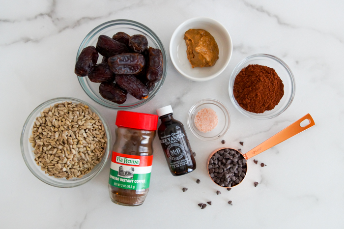 Chocolate Brownie Energy Balls ingredients