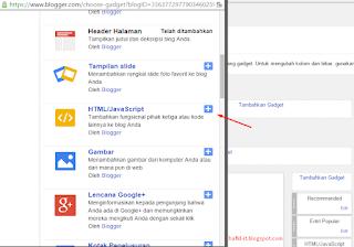 Menambahkan html / javascript