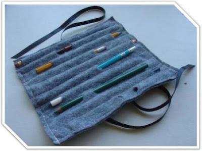 Cara Membuat Tempat Pensil dari Kain Flanel Bisa di Gulung