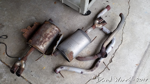 fix exhaust, repair muffler, rusted