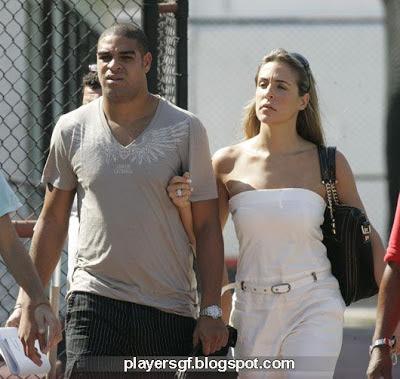 Adriano and his girlfriend Joana Machado