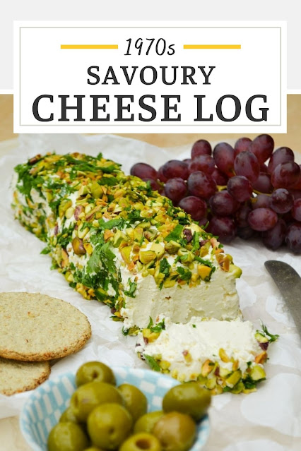 An easy recipe for the retro 1970 s party favourite a cheese log (sometimes a cheese ball). Just a few ingredients make a great veggie centerpiece to share with friends. Vegetarian or vegan.