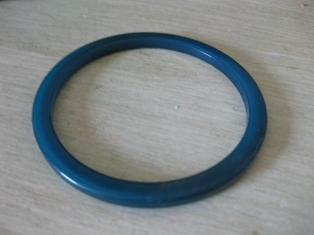 blue bakelite bracelet