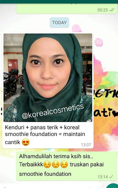koreal cosmetics smoothie foundation