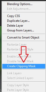 cara clipping mask photoshop