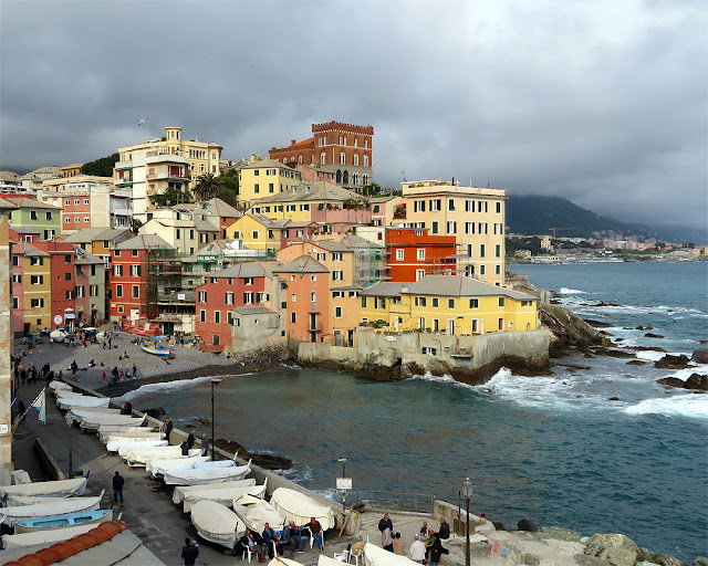 The narrow bay and the cape of Santa Chiara, Boccadasse, Genoa
