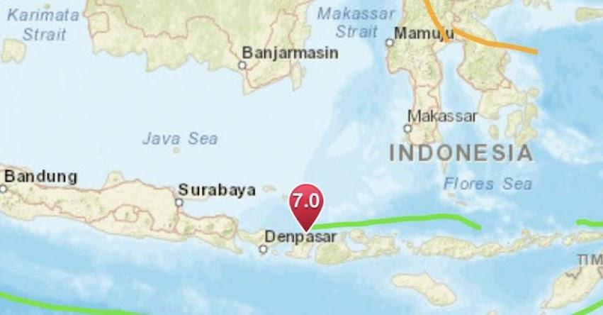 ALERTA DE TSUNAMI - TERREMOTO EN INDONESIA de Magnitud 7.0 (Hoy Domingo 5 Agosto 2018) Sismo Temblor EPICENTRO - Loloan - Lombok - USGS [VIDEO]