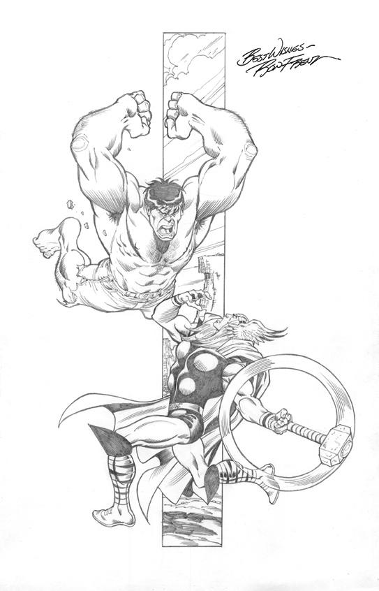 Marvel Comics of the 1980s: My Ron Frenz Thor vs. The Hulk