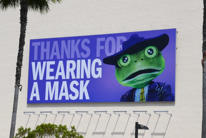 Thanks for wearing a mask Frog billboard