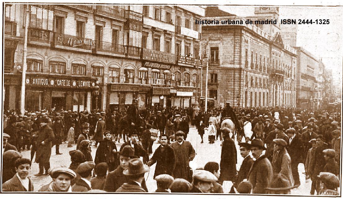 historia urbana de madrid fototeca puerta del sol y caf