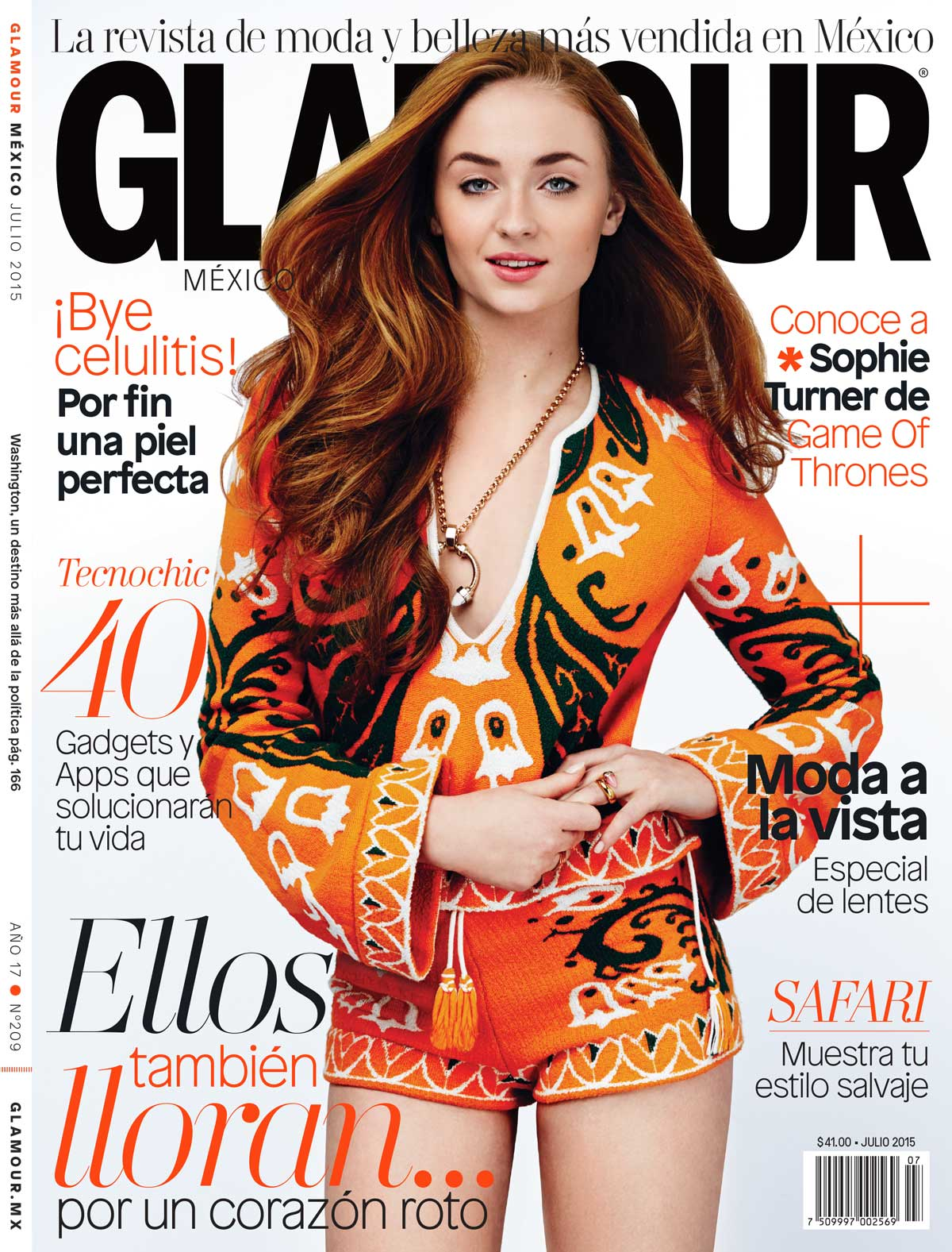 Sophie Turner covers Glamour Mexico July 2015