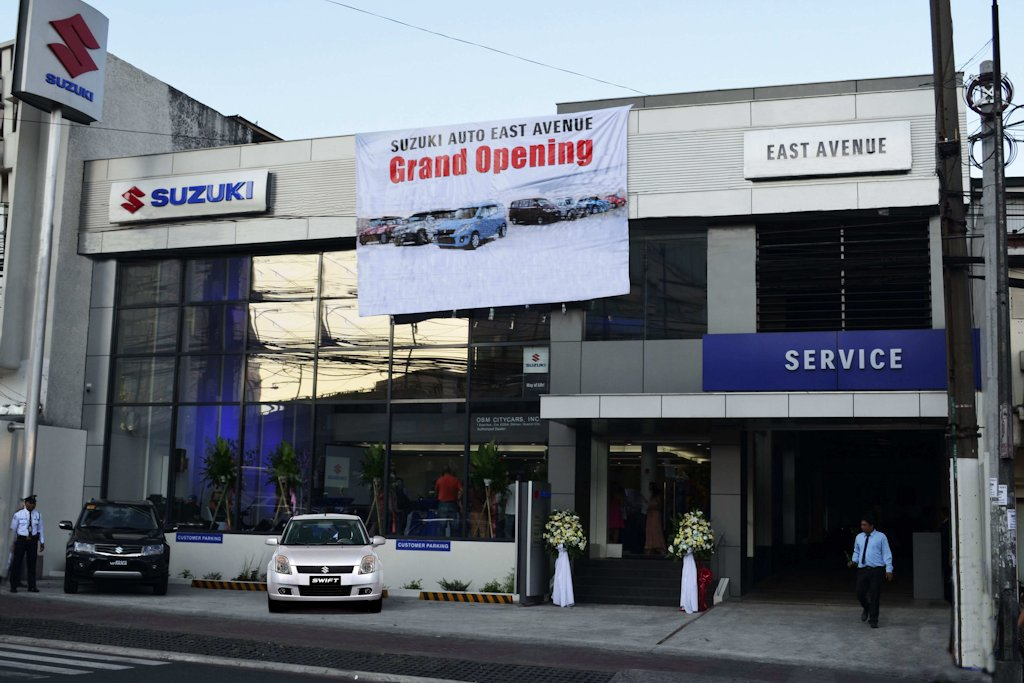 suzuki expands network with east avenue dealership philippine car news car reviews. Black Bedroom Furniture Sets. Home Design Ideas