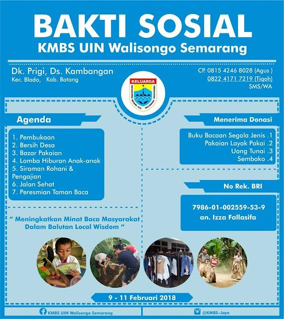Event Batang | 9-11/02/18 | Baksos KMBS UIN Walisongo Semarang