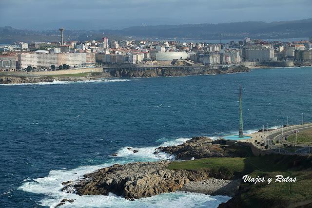 Vistas desde el Mirador de San Pedro de La Coruña