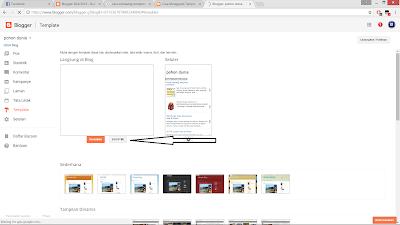 cara mengganti tempalte blog terbaru dan mudah