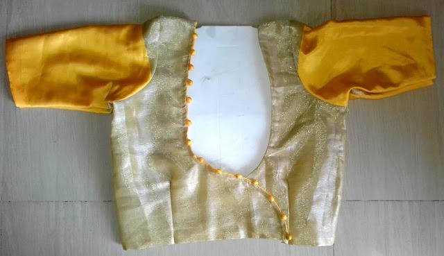 Tucks Blouse with Round Shape