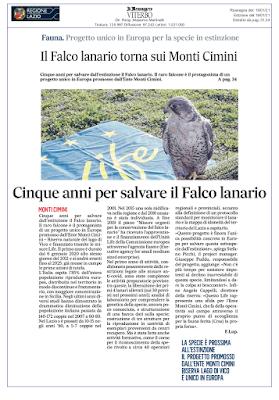 LIFE LANNER, salviamo il Lanario con progetto LIFE di Stefano Picchi
