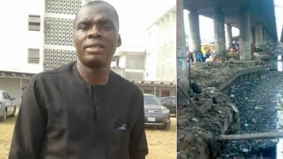 Man Beaten To A Pulp After He Dumped His Baby Inside A Canal In Ondo (Photo)